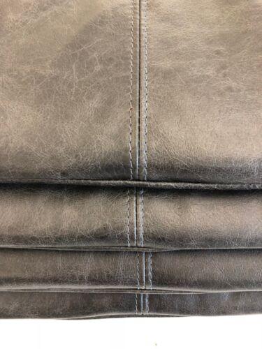 4 x Stuhlkissen Sitzkissen Antirutsch echt Leder anthrazith antik vintage 35x35