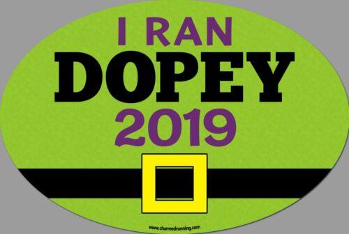 Run Disney I Ran Dopey Challenge Marathon REMOVABLE Decal Car Bumper Sticker