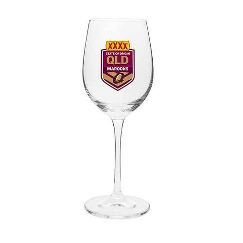 2018 State of Origin QLD Queensland Maroons NRL Wine Champagne Drink Glass