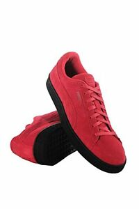 3c382a232957 Image is loading Puma-Mens-Suede-Black-Sole-Red-Shoes-Pick-