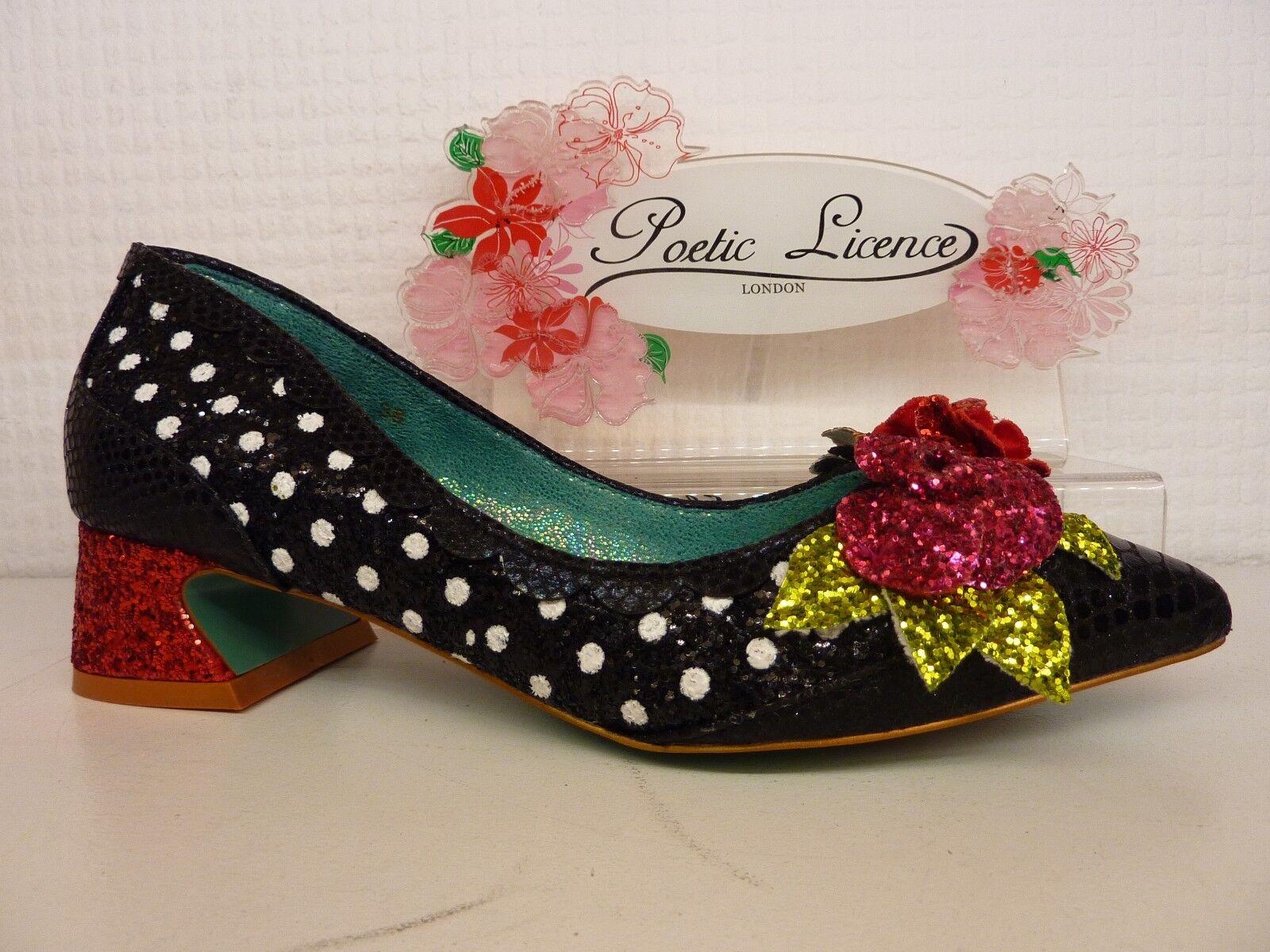 designer online Poetic Licence da Irregular Irregular Irregular Choice Sway Nero a Pois Glitter Scarpa Donna  la migliore offerta del negozio online