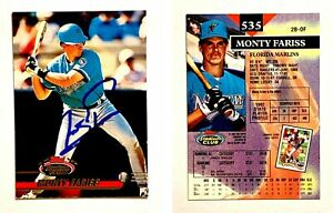 Monty-Fariss-Signed-1993-Stadium-Club-535-Card-Florida-Marlins-Auto-Autograph