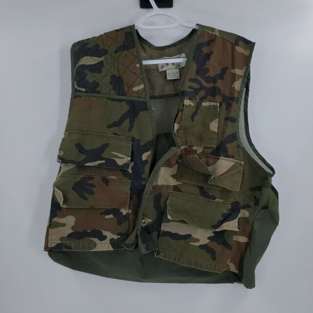 Duck Bay, Mens Camouflage Hunting Vest, size L