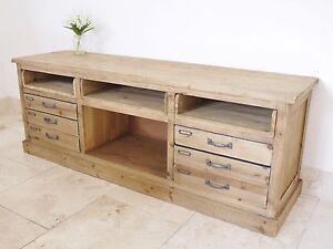 Image Is Loading New Retro Vintage Tv Bench Media Unit Wood