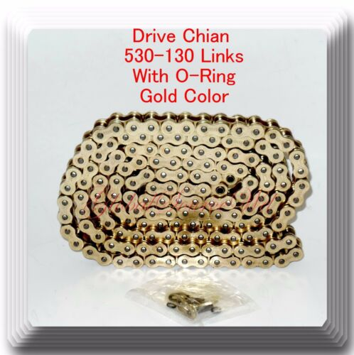 With O-Ring  Heavy Duty Drive Chain Gold Color Pitch 530x130 Links For Motocycle