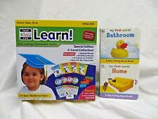 Your My Baby Can Learn / Read Vol 1-4 DVD, & Mini-Sliding Board Books ~ NEW