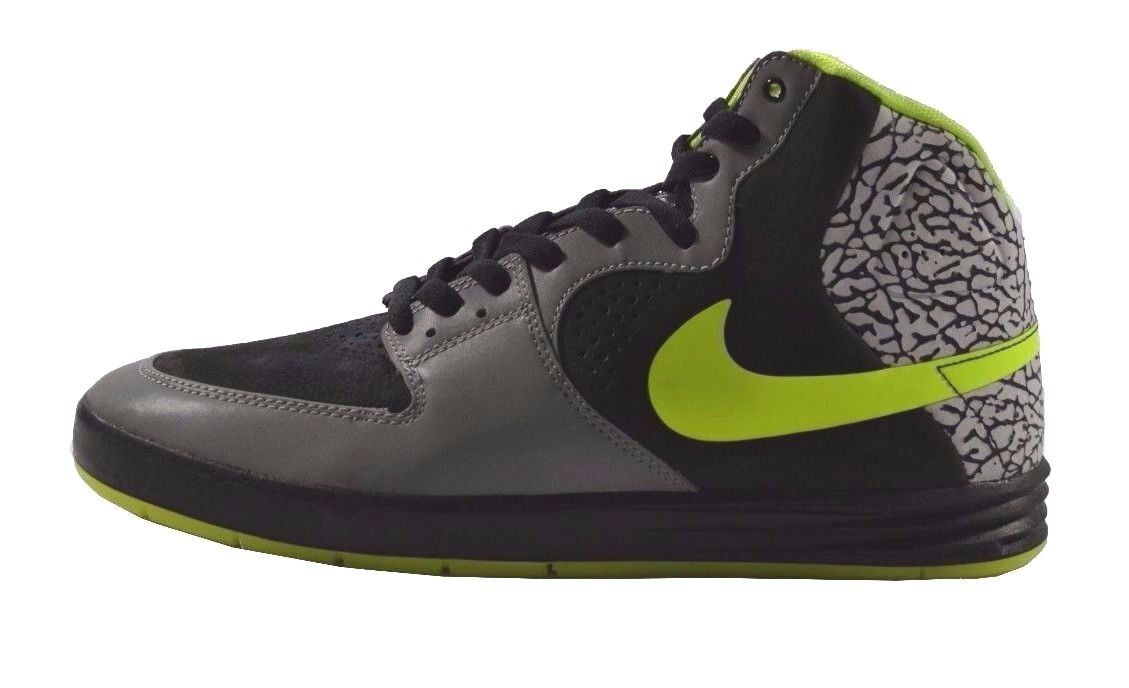 Nike PAUL RODRIGUEZ 7 HIGH PRM Metallic Silver Volt Discounted (339) Men's shoes