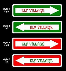 Dummy Surveillance Camera Elf Warning Sign Set Kid Novelty Christmas Xmas Decor