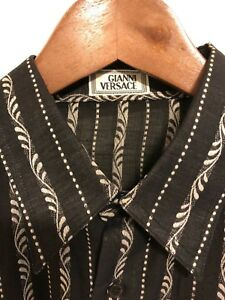 6596b491 Vintage GIANNI VERSACE Couture Men's Button Up Dress Shirt M | eBay