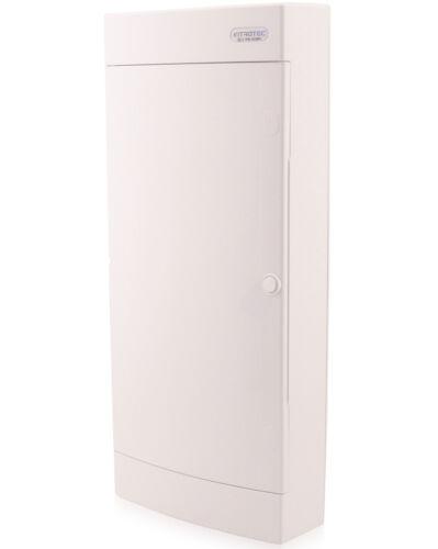Sicherungskasten Aufputz IP40 Verteiler Gehäuse 4-reihig 48 Module weiße Tür