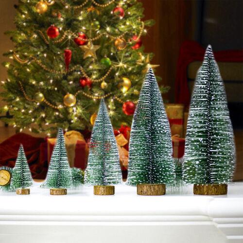5× Tabletop Christmas Pine Tree Xmas Mini Snow Small Trees Decoration Gift