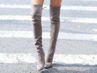 Womens Shoes Sloch Strappy High Heel Soft Gothic Over The Knee Thigh High Boots