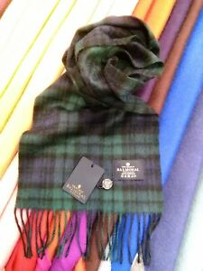 100% Pure Cashmere Scarf | The House of Balmoral | Black Watch | Tartan