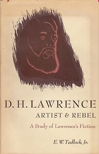 D. H. LAWRENCE ARTIST & REBEL- A STUDY OF LAWRENCE'S FICTION HARDCOVER W/JACKET*