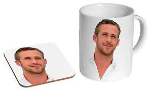 Gosling Ryan ramique Cadeau Tea Sur Ensemble C TasseCafDessous De Verre Détails BordQeWCx