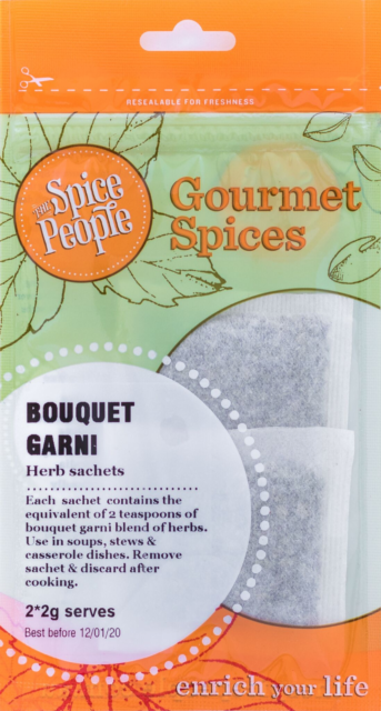 Bouquet Garni- Delicate Blend of Herbs in easy to use sachet, The Spice People