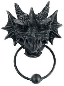 Details About Dragon Door Knocker   Gothic Mystic Fantasy House Decor Wicca