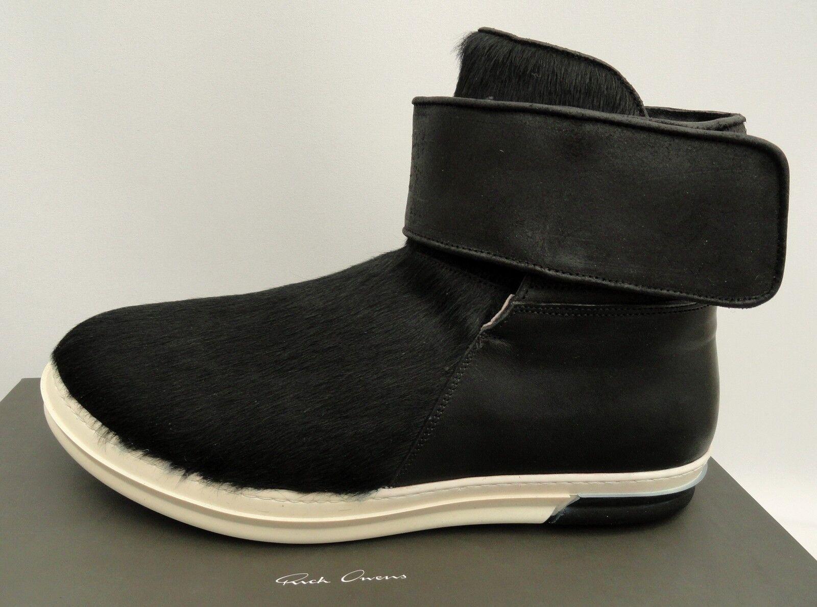 RICK OWENS Black Fur Boots Sneakers UK10 EU44 US11 Trainers New