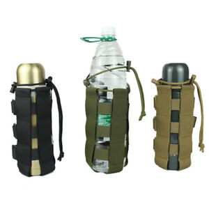 Outdoor Tactical Molle Water Bottle Bag Military Hike Belts Holder Kettle Pouch