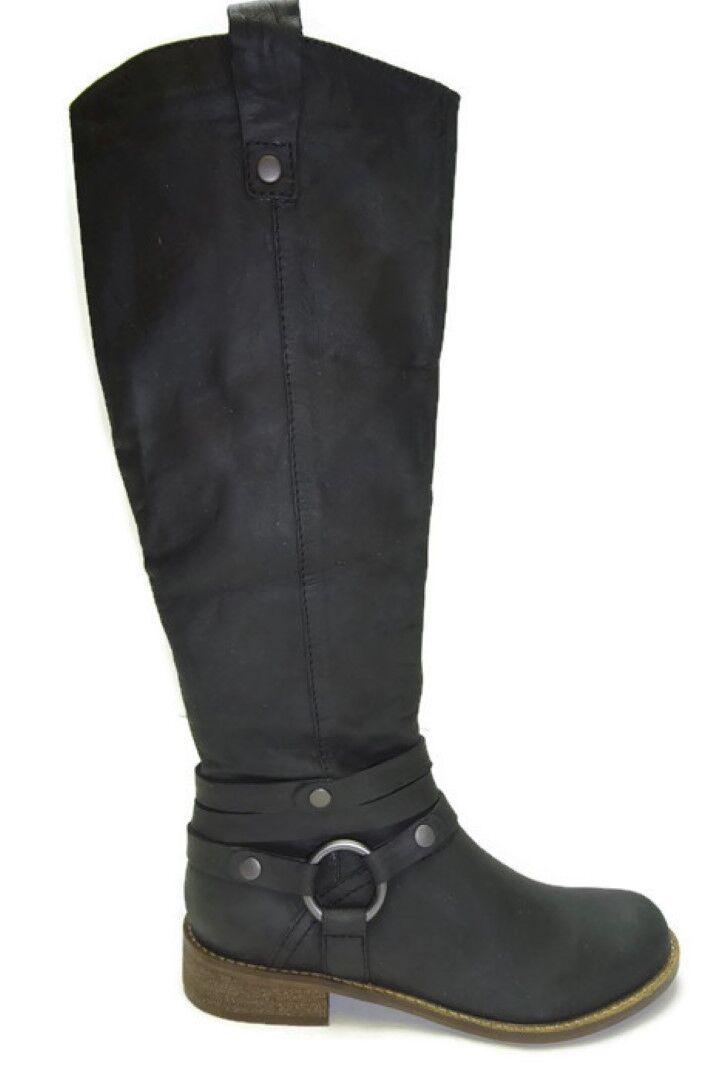 Steven by Steve Madden Women's Stingrey Boot, Black Nubuck, 6 M US
