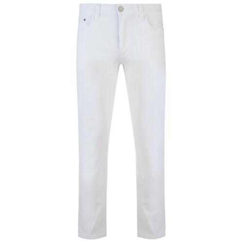"""Da Uomo Taglie Forti Elasticizzato Cotone Chino Jeans Bottoms ZIP Kam ALBA Girovita 40/"""" a 60/"""""""