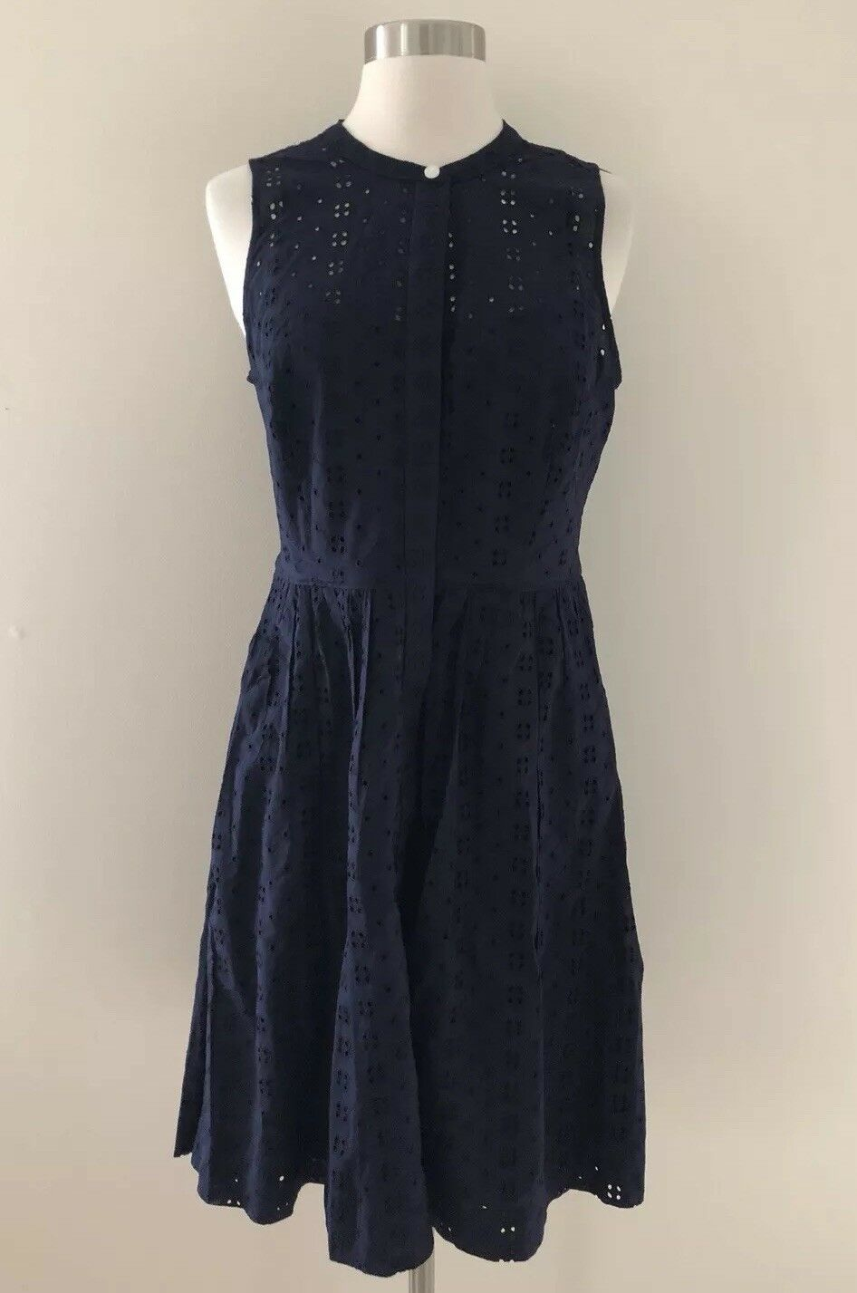 J.Crew Factory Eyelet shirtdress Navy Blau Größe S item  J0945  New