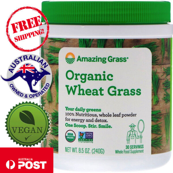 Amazing Grass, Organic Wheat Grass, 8.5 oz (240 g) - Vegan - Whole Leaf Powder