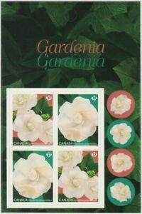 GARDENIA flower = Booklet page with Block of 4 MNH-VF Canada 2019 #3169-70