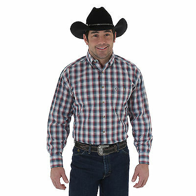 WRANGLER 20X MJ2606R Solid Red Long Sleeve Western Shirt FREE SHIPPING