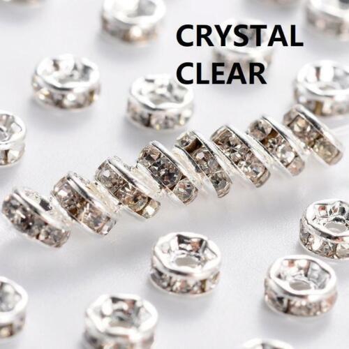 25pc iron made 7.5mm rhinestone beads//spacers-LL171