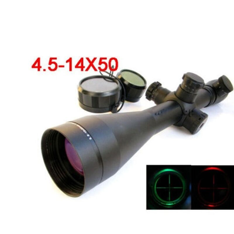 4.5-14X50 M1 Mil-dot Illuminated Riflescopes Rifle Scope Scope Scope Hunting Scope w/ Mounts 2e56fa