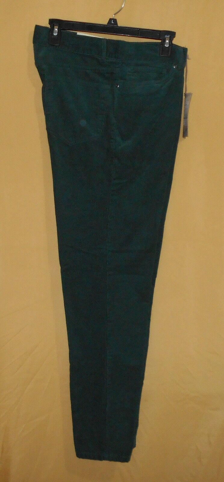 Clear Water men's pine green corduroy pants dress cord flat front straight