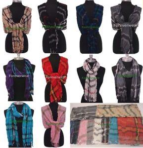 WHOLESALE-LOT-10PCS-2-50-EACH-Crinkle-PLAID-Long-SCARF-SHAWL-WRAP-Soft-Scarves
