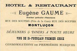 Carte-Visite-Publicite-Hotel-restaurant-Eugene-GAUME-a-MONTLUCON-Rue-des-Soupirs