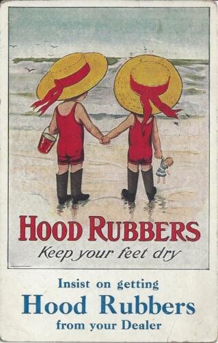 HOOD RUBBERS,KEEP YOUR FEET DRY,INSIST ON GETTING HOOD RUBBERS FROM YOUR DEALER