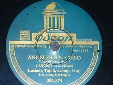 ITALIA 78 rpm RECORD Odeon LUCIANO TAJOLI Angeli senza cielo / Canzone da due...