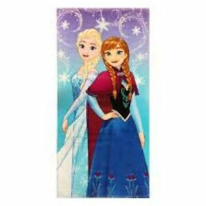 Disney-Frozen-Snowflake-Sisters-Beach-Towel-Anna-Elsa-Licensed-100-cotton-new