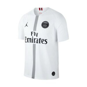 100% authentic 10a74 1f41b Details about JORDAN NIKE PARIS SAINT GERMAIN PSG JERSEY SOCCER WHITE  AUTHENTIC AWAY SIZE S