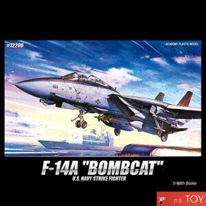 Academy-1-48-F-14A-BOMBCAT-USN-Strike-Fighter-Aircraft-Plastic-model-kit-12206