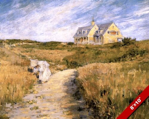 LARGE HOMESTEAD HOME IN SHINNECOCK LONG ISLAND PAINTING ART REAL CANVAS PRINT