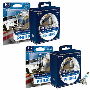philips racingvision car headlight bulbs h4 h7 all. Black Bedroom Furniture Sets. Home Design Ideas