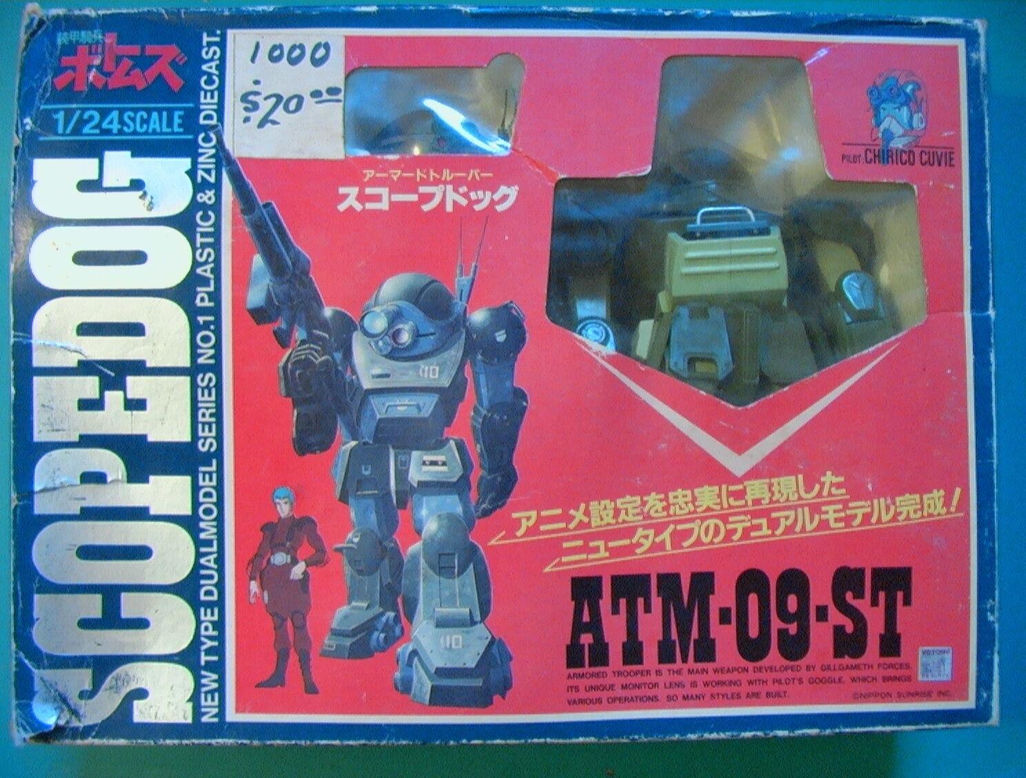 Molde Vintage 1984 1 24 alcance Perro 100% con V. Con Caja Soporte papeles Takara Metal