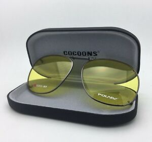 8138fca732 Image is loading COCOONS-Lemon-Yellow-Sunglasses-Eyeglasses-Over-Rx-Clip-