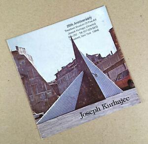 1980 Sculptor JOSEPH KURHAJEC Exhibition Brochure TREADWELL MUSEUM FINE ART
