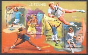 Republica-Centroafricana-2014-Tenis-Yvert-N-3634-3637-Nueva-MNH