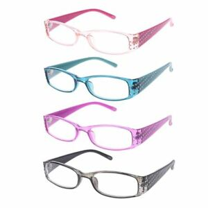 1a0b3d3e84d Image is loading Women-Simple-Fashion-Reading-Glasses-Rectangular -Frame-Spring-