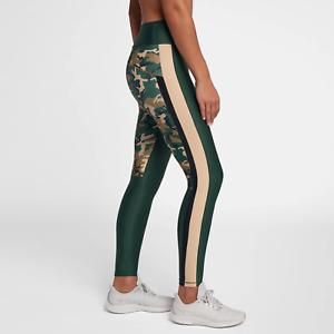 b2de388b26b0 Nike Women s Camo Training Tights XS Green Brown Black Gym Casual ...