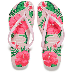 2ca7e696504e HAVAIANAS SLIM FLORAL CRYSTAL ROSE WOMENS LADIES FLIP FLOPS SANDALS ...