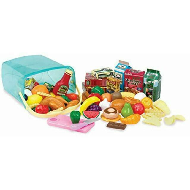 Play Circle By Battat Pantry In A Bucket 79pcs Pretend Food Playset W Stor For Sale Online Ebay