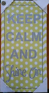 Keep-Calm-Canvas-Inspirational-Wall-Art-Picture-Home-decor-24-034-x12-034-inch